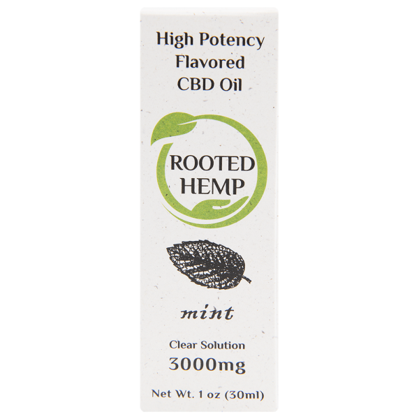 Flavored Clear Solution CBD Oil Mint