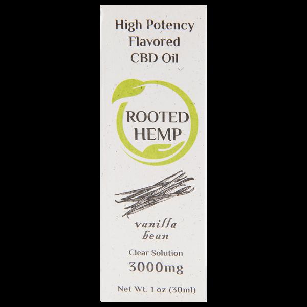 Flavored Clear Solution CBD Oil Vanilla 3000mg